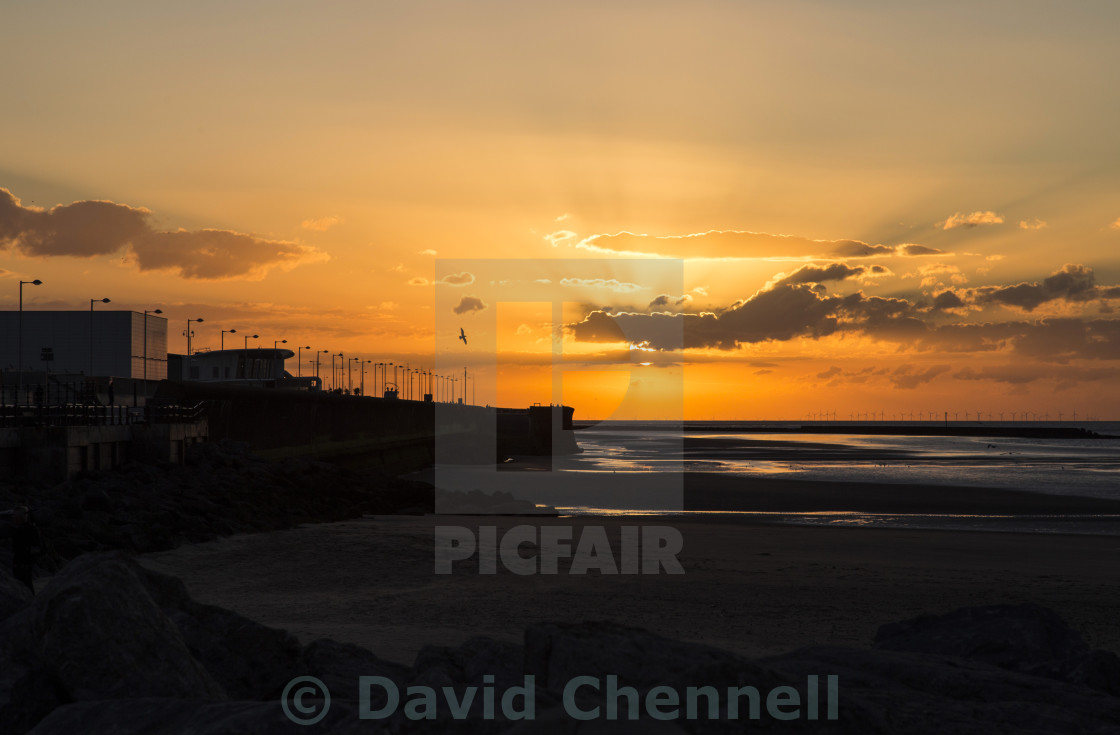 """New Brighton Sunset"" stock image"