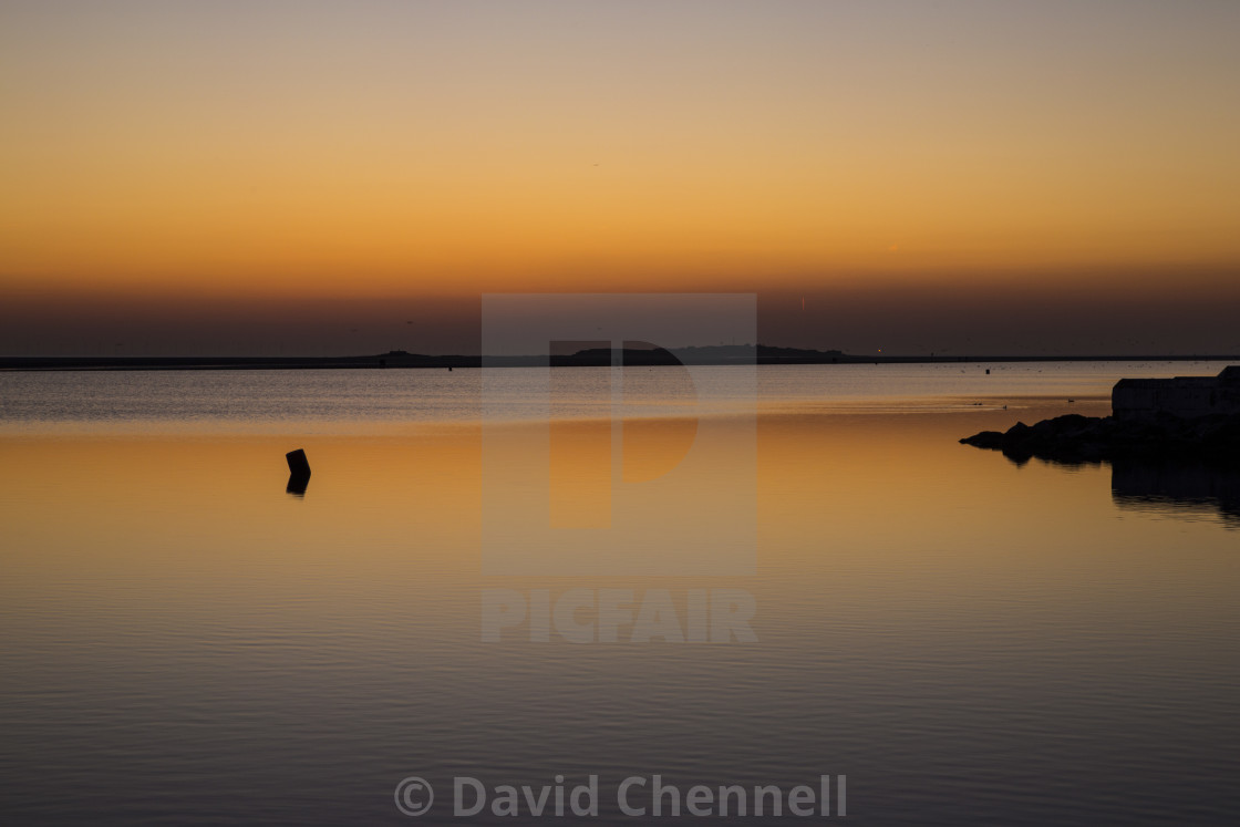 """West Kirby Twilight Glow"" stock image"