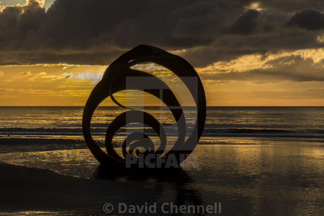 """Mary's Shell Silhouette"" stock image"