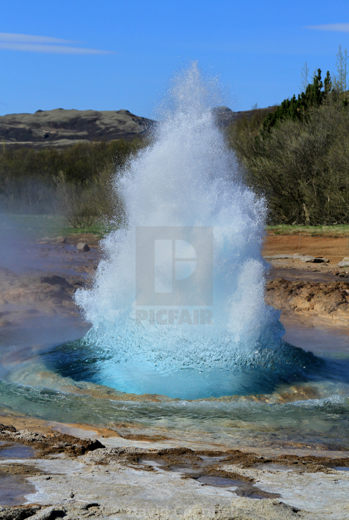 """Geyser Eruption"" stock image"