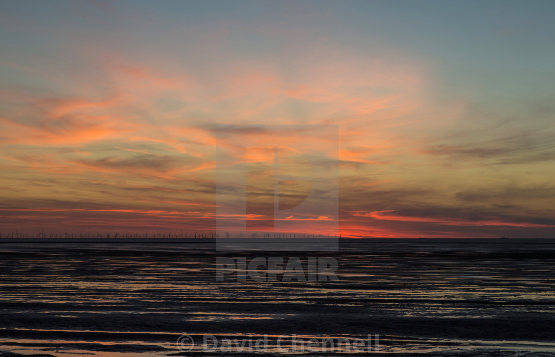 """Hoylake Afterglow"" stock image"