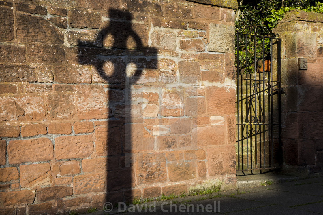 """Greasby Celtic Cross"" stock image"