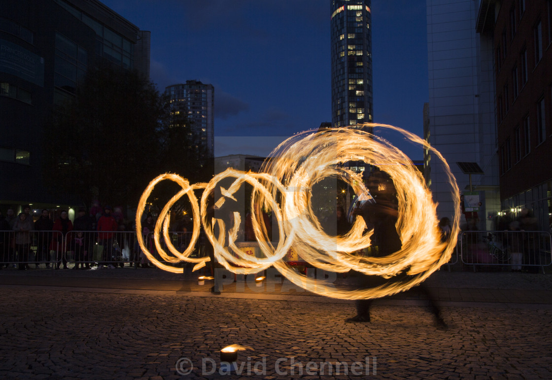 """""""Fire Spinning"""" stock image"""