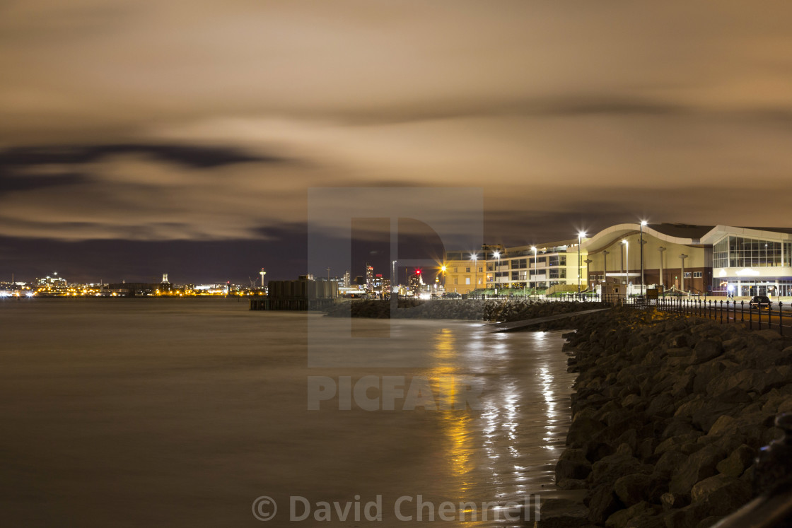 """New Brighton Nightscape"" stock image"