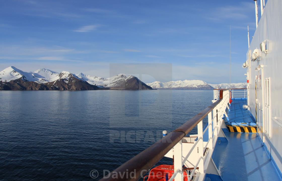 """Approach To Akureyri"" stock image"