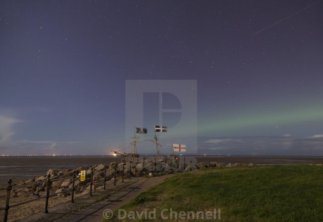 """""""Wirral Aurora"""" stock image"""
