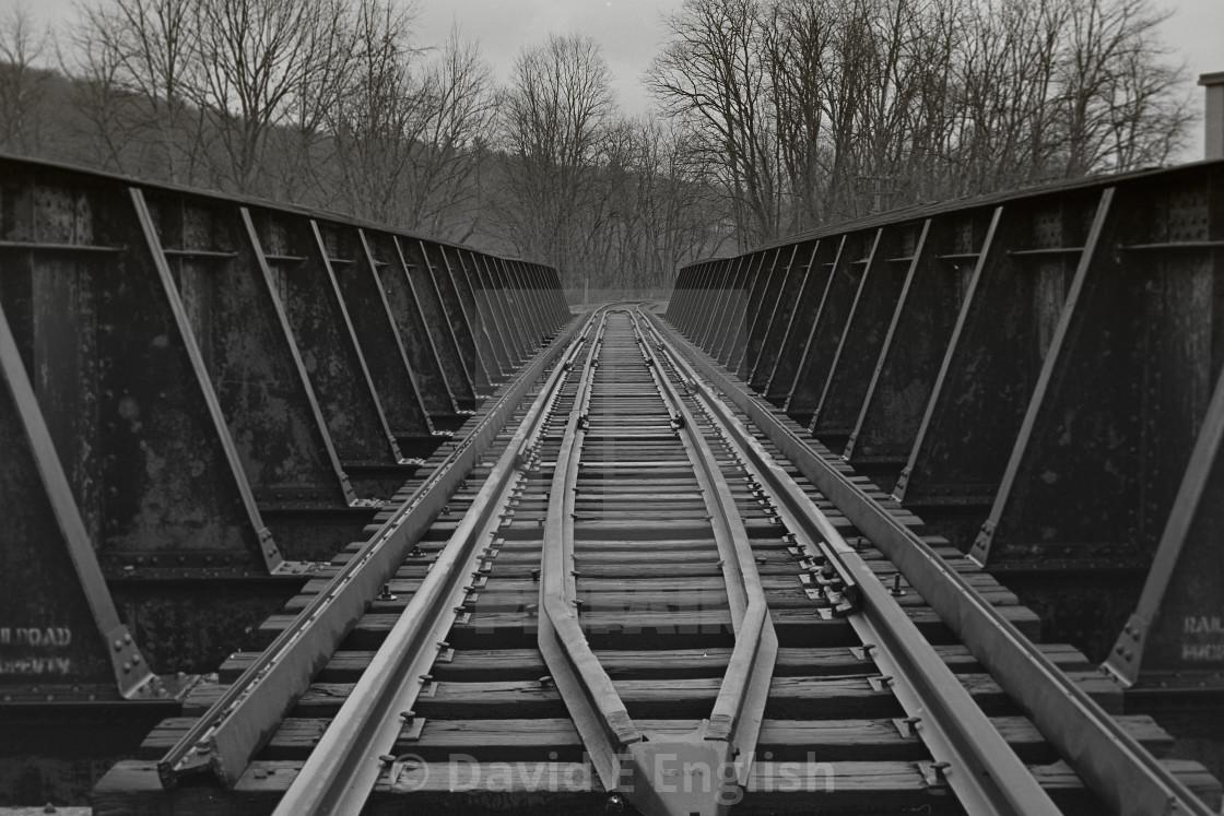 """Train Trestle in Hawley, Pennsylvania"" stock image"