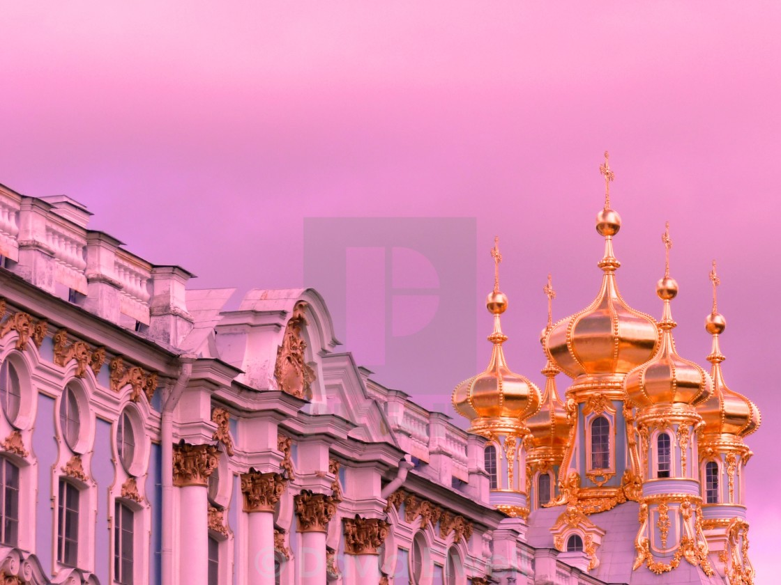 """Sunset at Catherine Palace, St Petersburg"" stock image"
