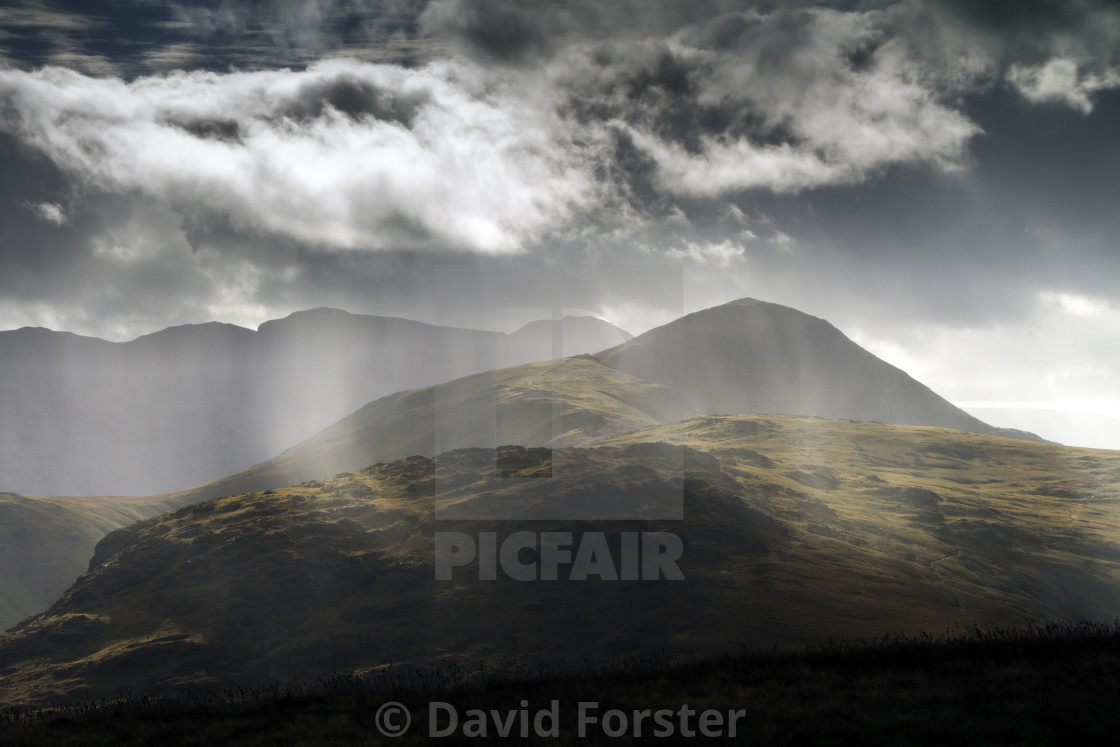 """The View South From Dale Head towards Great Gable, Lake District"" stock image"