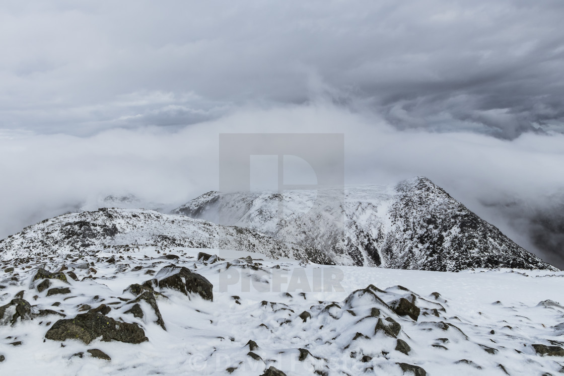 """The View North East from theSummit of Scafell Pike"" stock image"