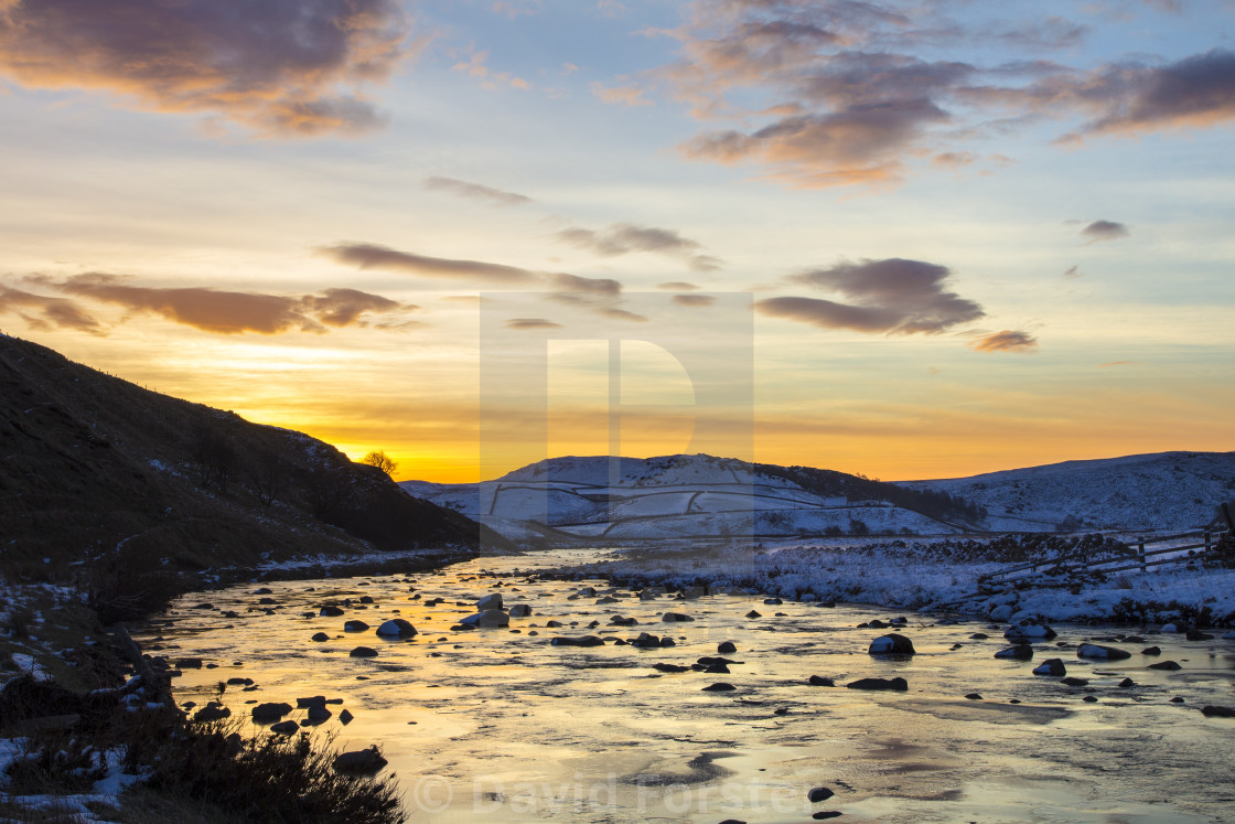 """""""The River Tees on the Pennine Way Forest-in-Teesdale"""" stock image"""