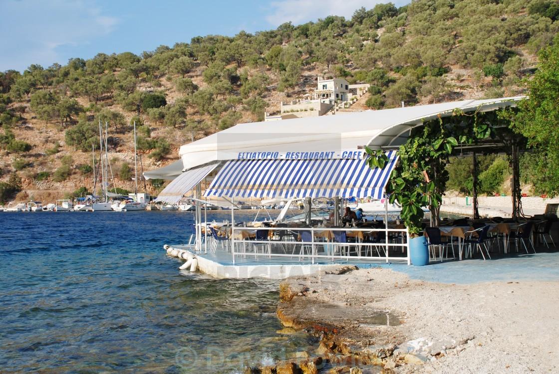 """""""Spilia Bay, Meganissi"""" stock image"""
