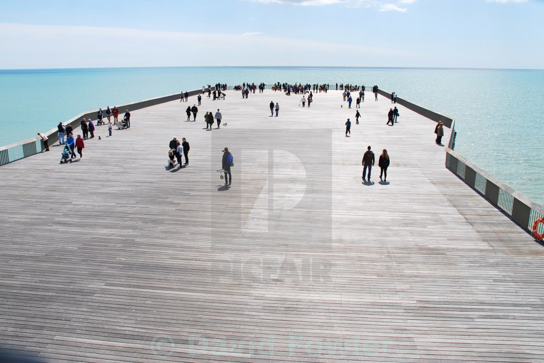 """Hastings pier head, England"" stock image"