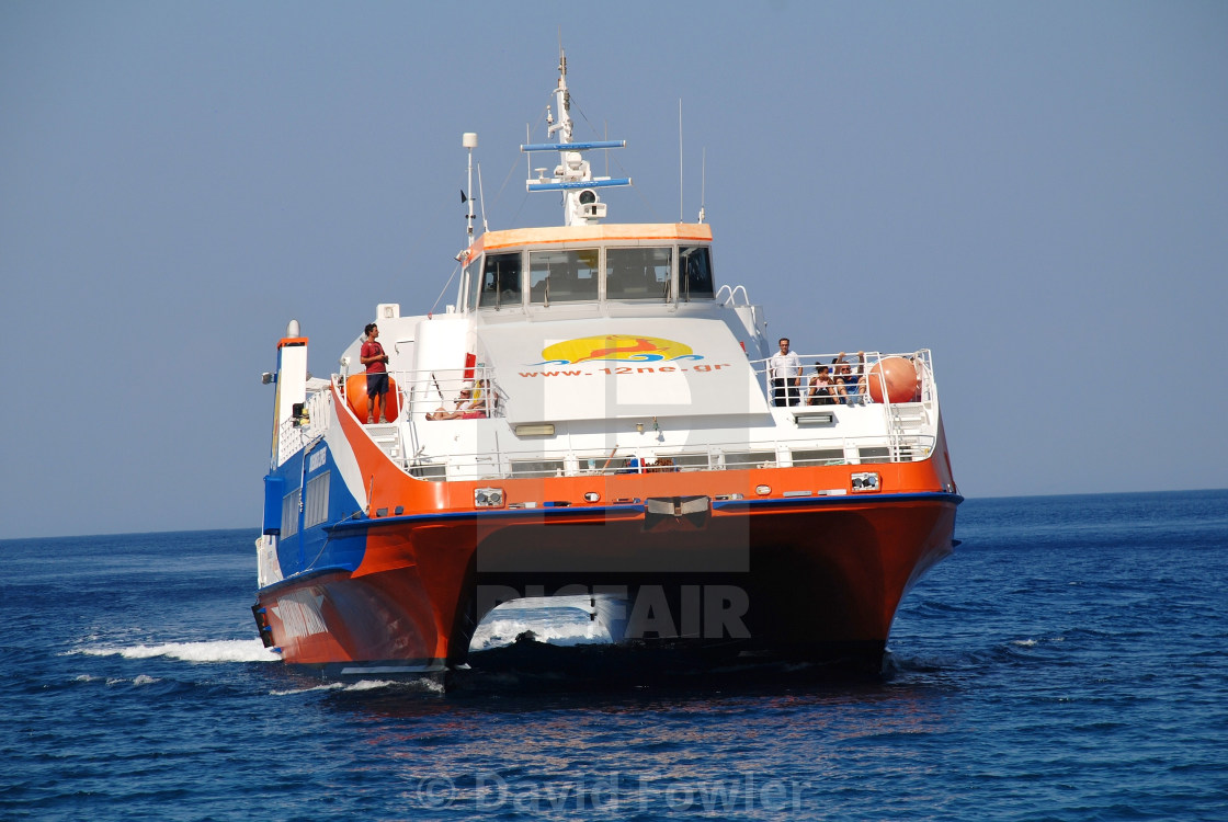 """Tilos ferry boat, Greece"" stock image"