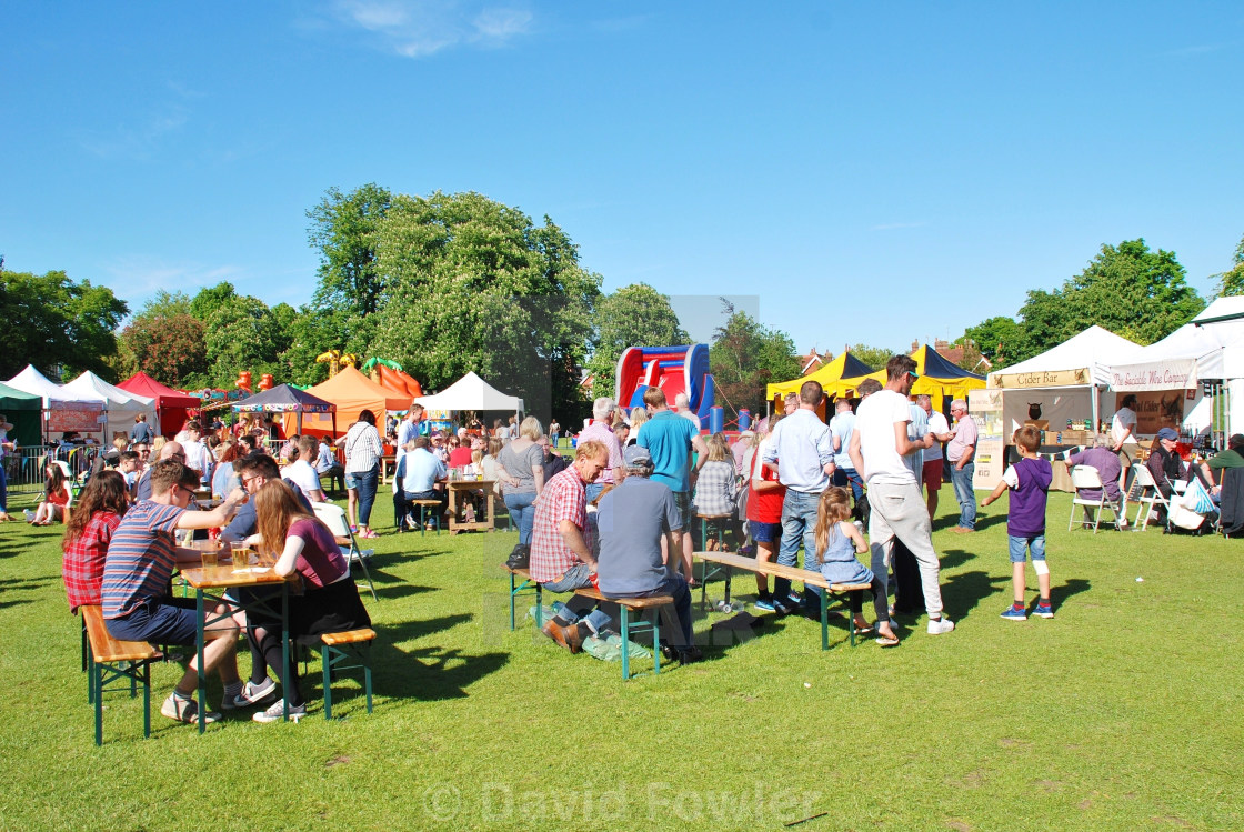 """Food and Drink Festival, Tenterden"" stock image"