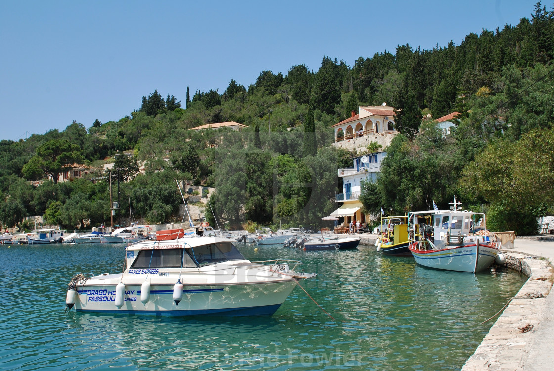 Boats in Lakka harbour, Paxos - License, download or print