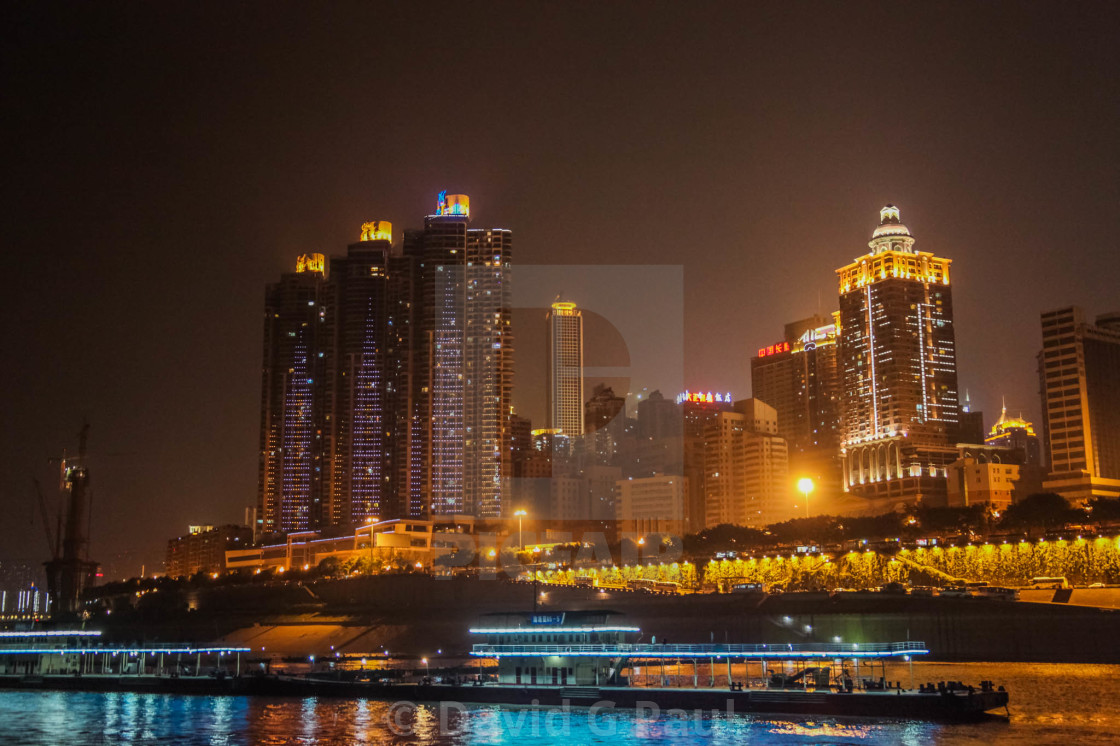 """Chongqing at Night"" stock image"