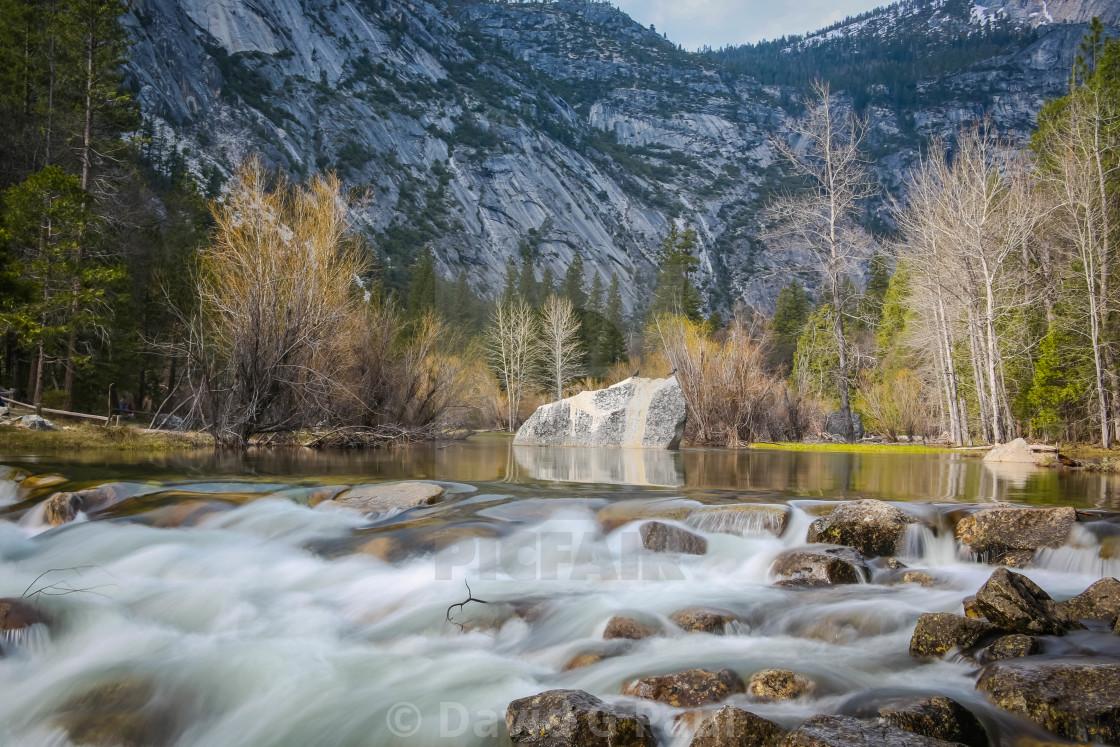 """Mirror Lake, Yosemite National Park"" stock image"