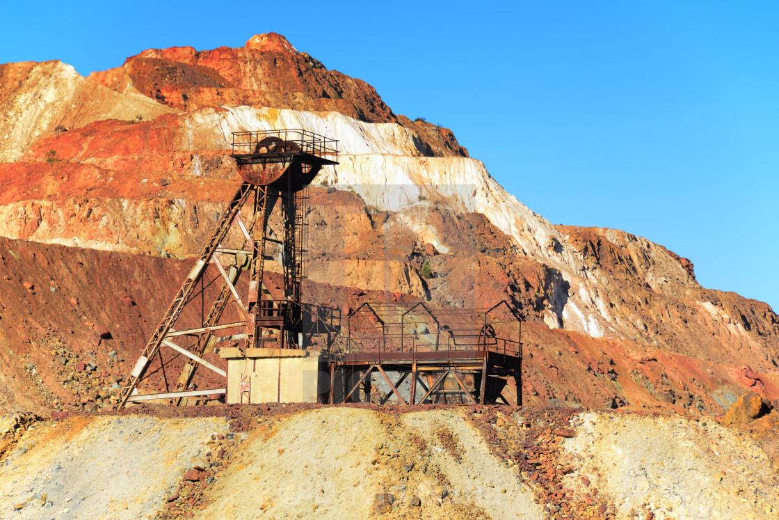 """""""Abandoned mine in Mars"""" stock image"""