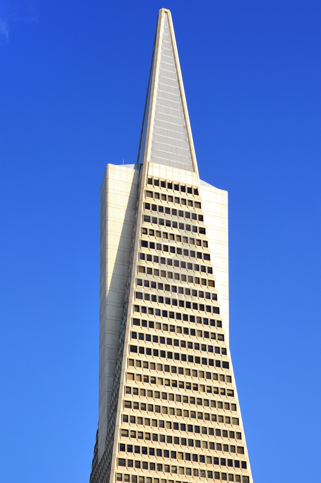 """Transamerican Pyramid top"" stock image"