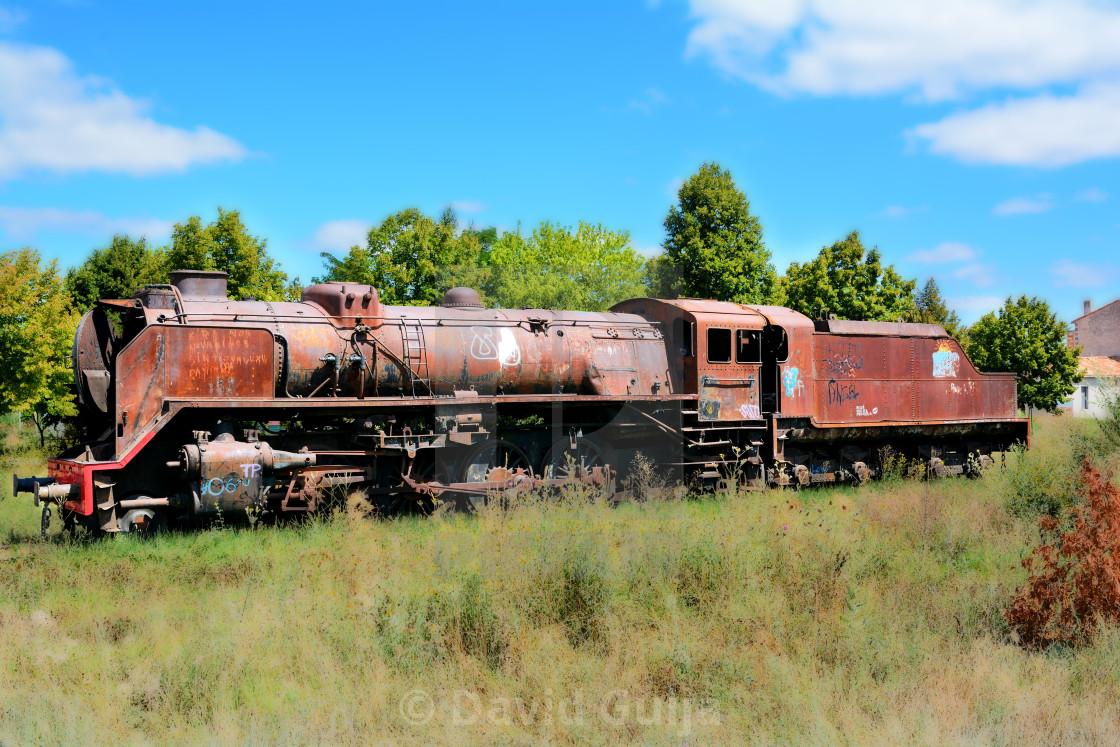 """Abandoned engine"" stock image"