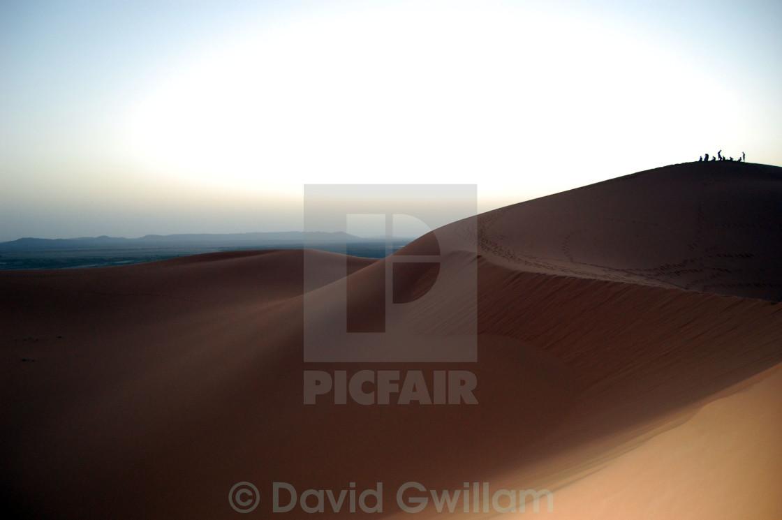 """Dune Sunset"" stock image"