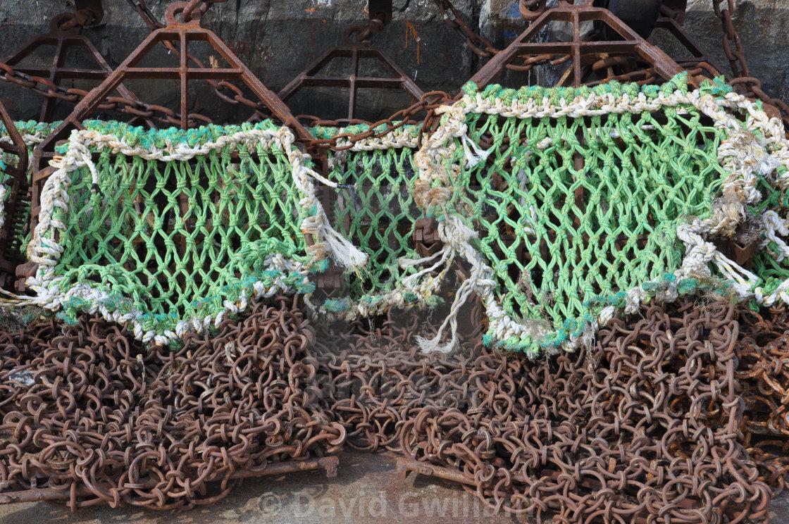 """Trawler nets"" stock image"