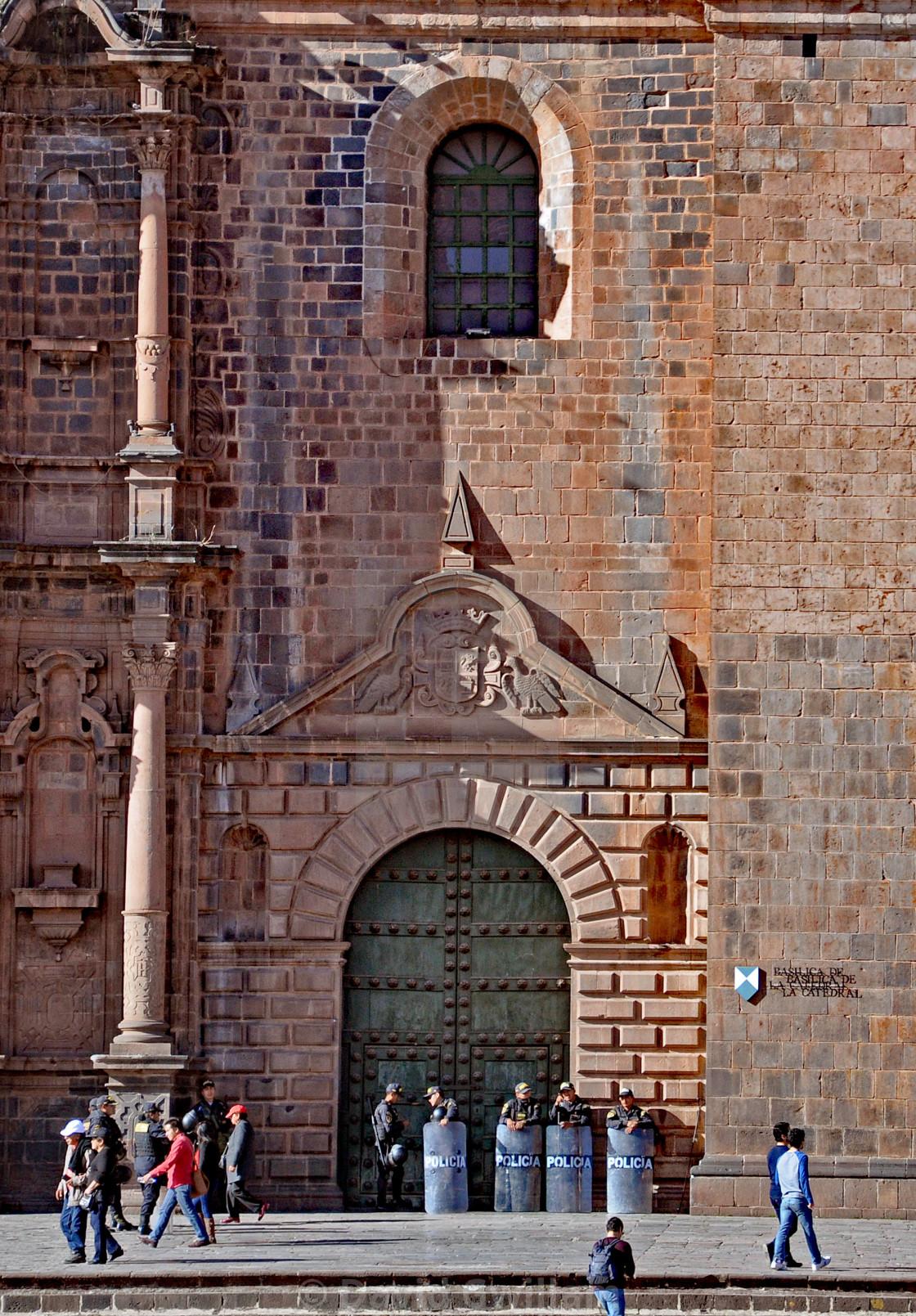 """Cuzco security"" stock image"