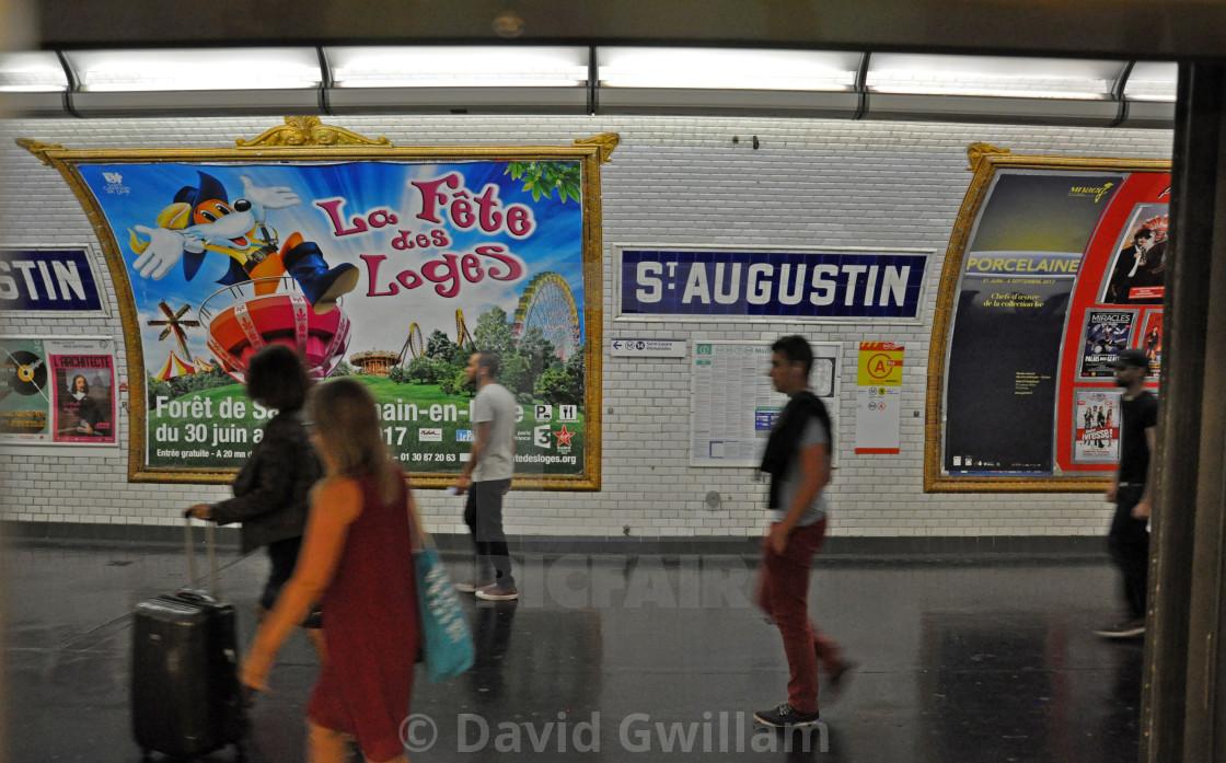 """""""Paris Metro 3"""" stock image"""