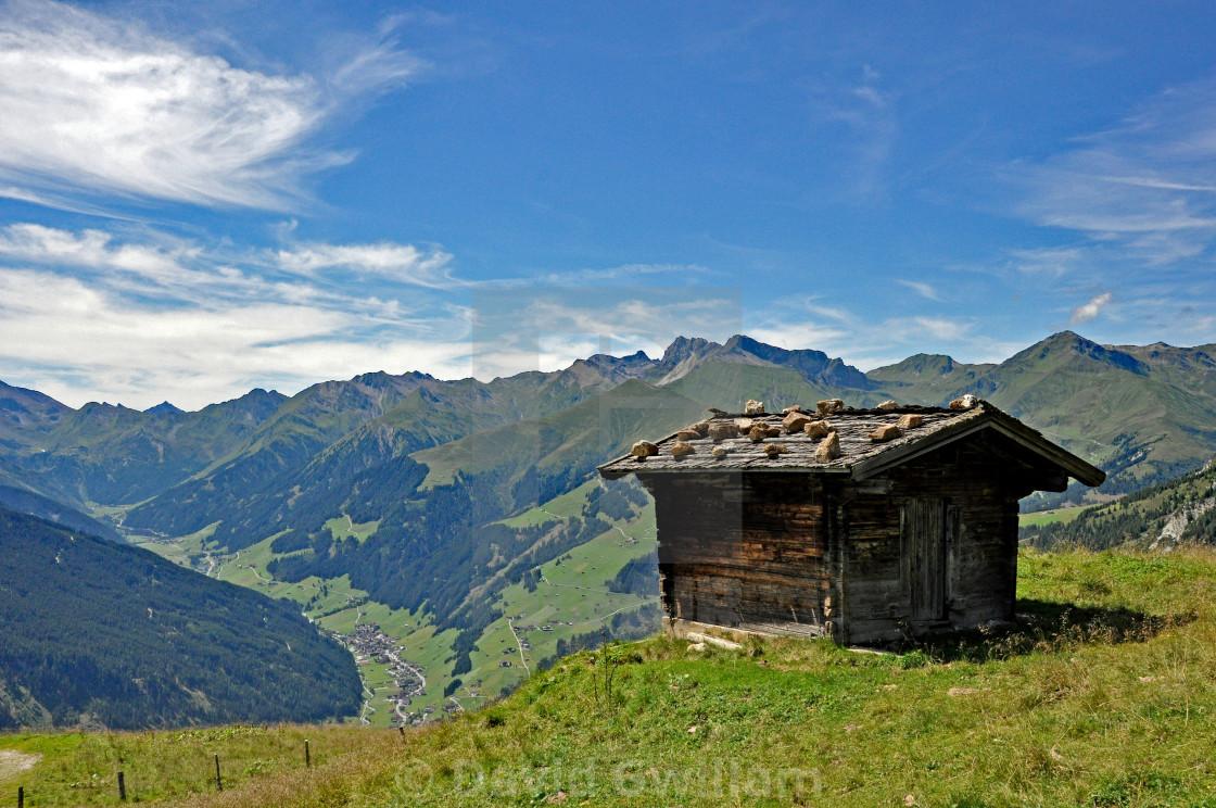 """""""Alpine hut"""" stock image"""