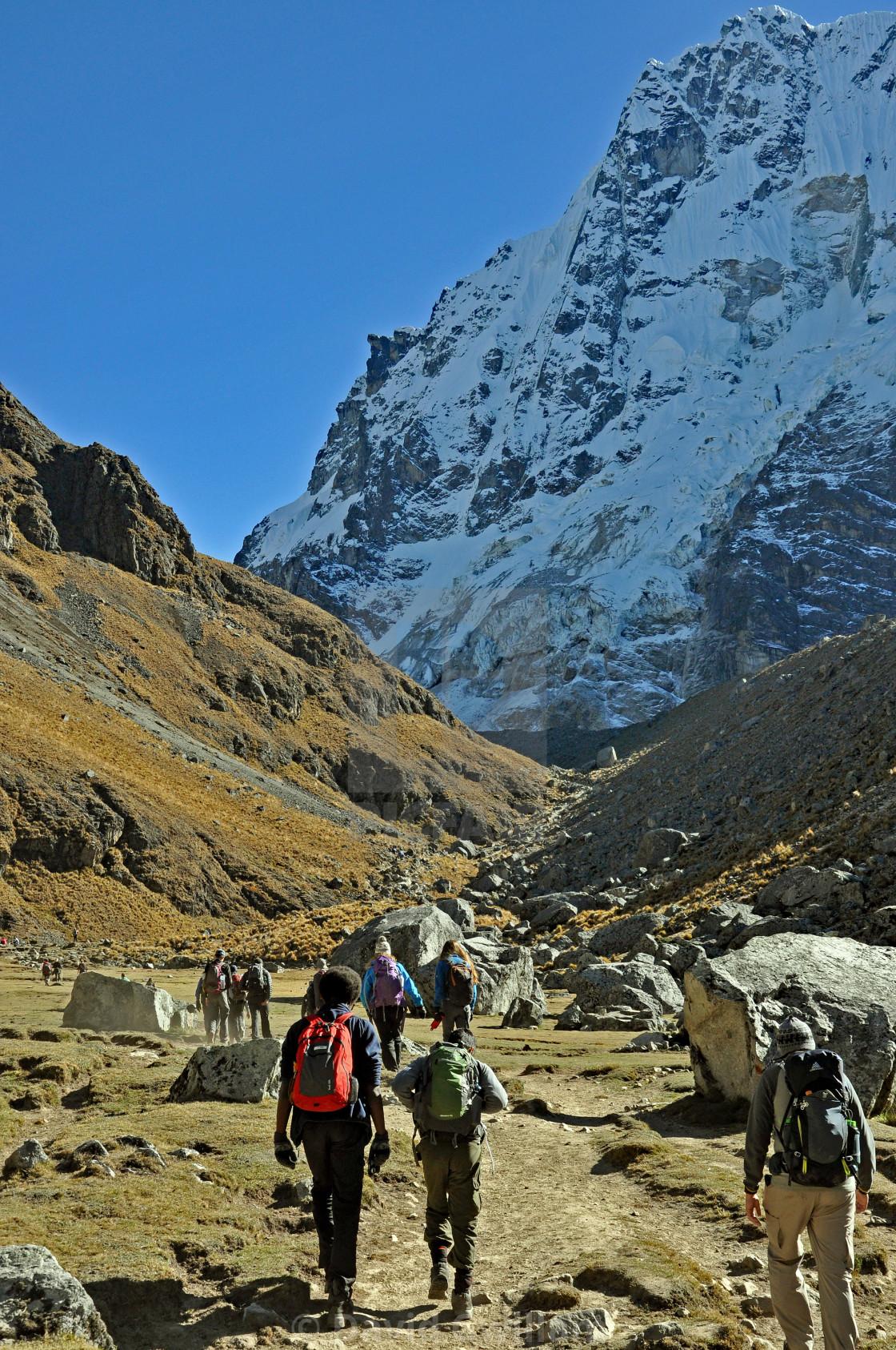 """Salkantay Pass"" stock image"