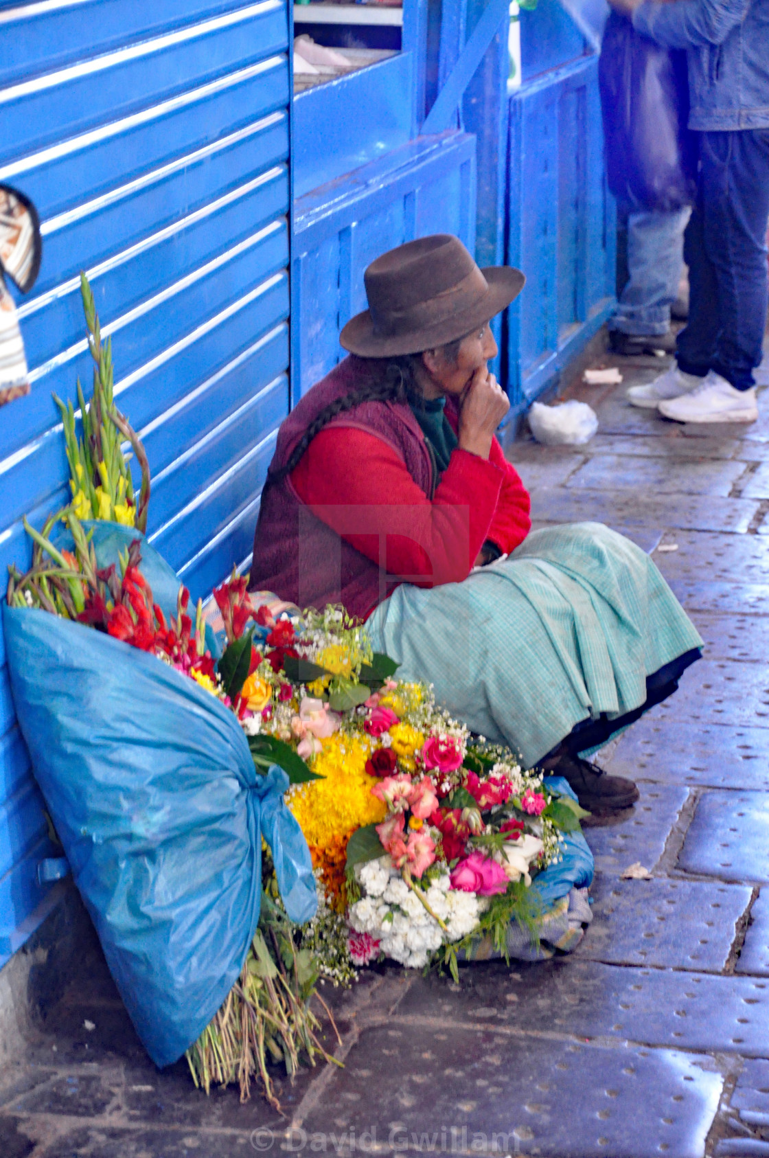 """Cuzco market 2"" stock image"