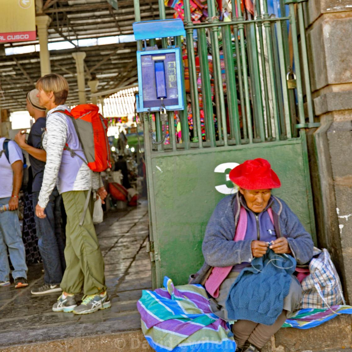 """Cuzco market 3"" stock image"