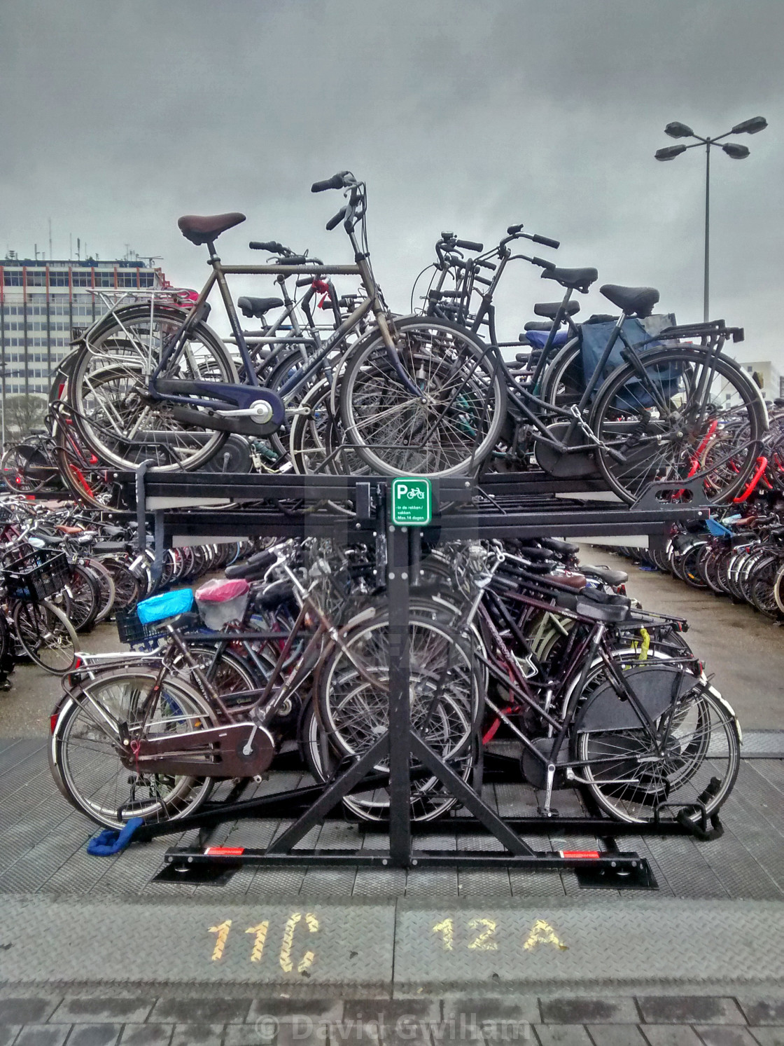 """Bike parking"" stock image"