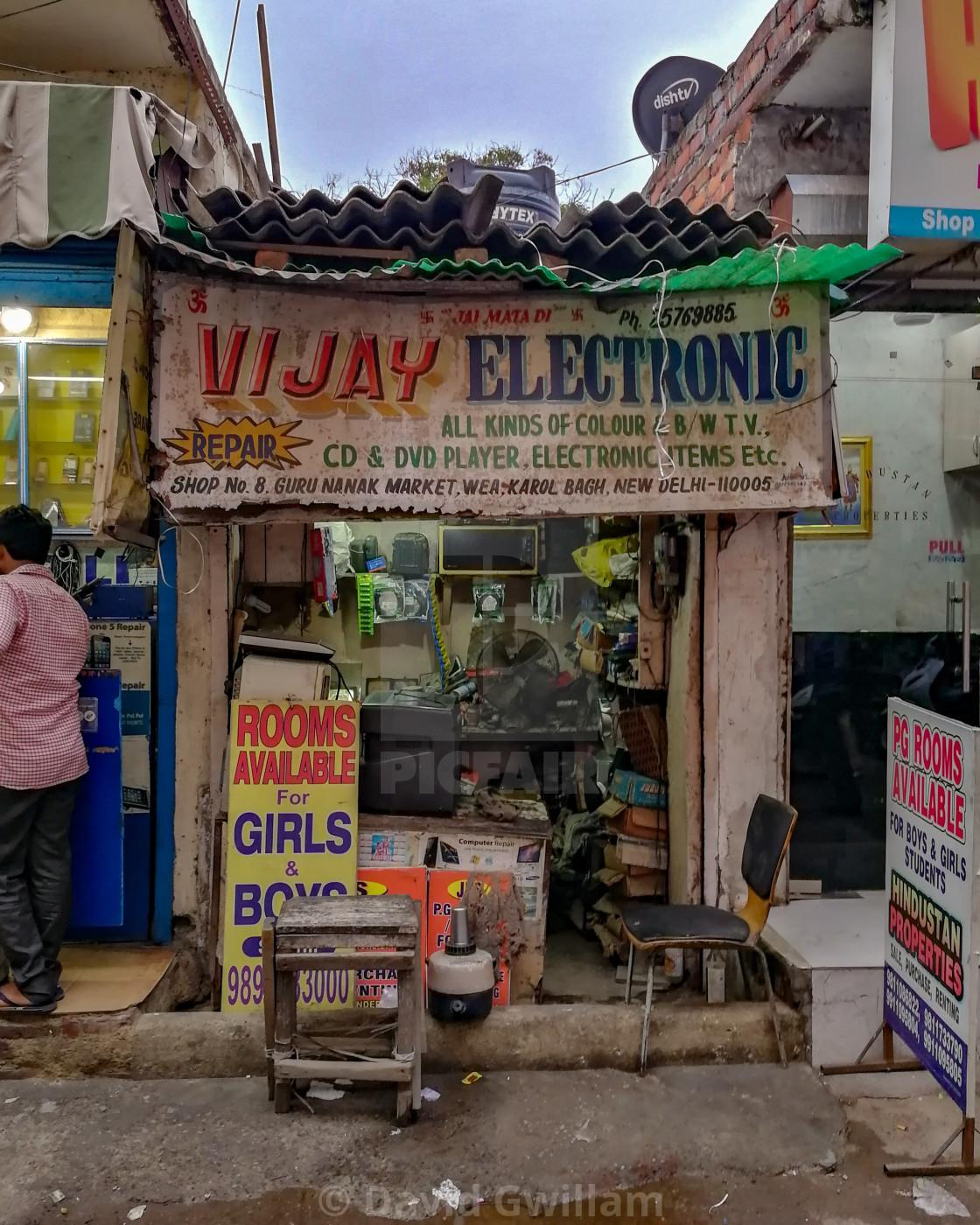 """""""Delhi Shop 1"""" stock image"""