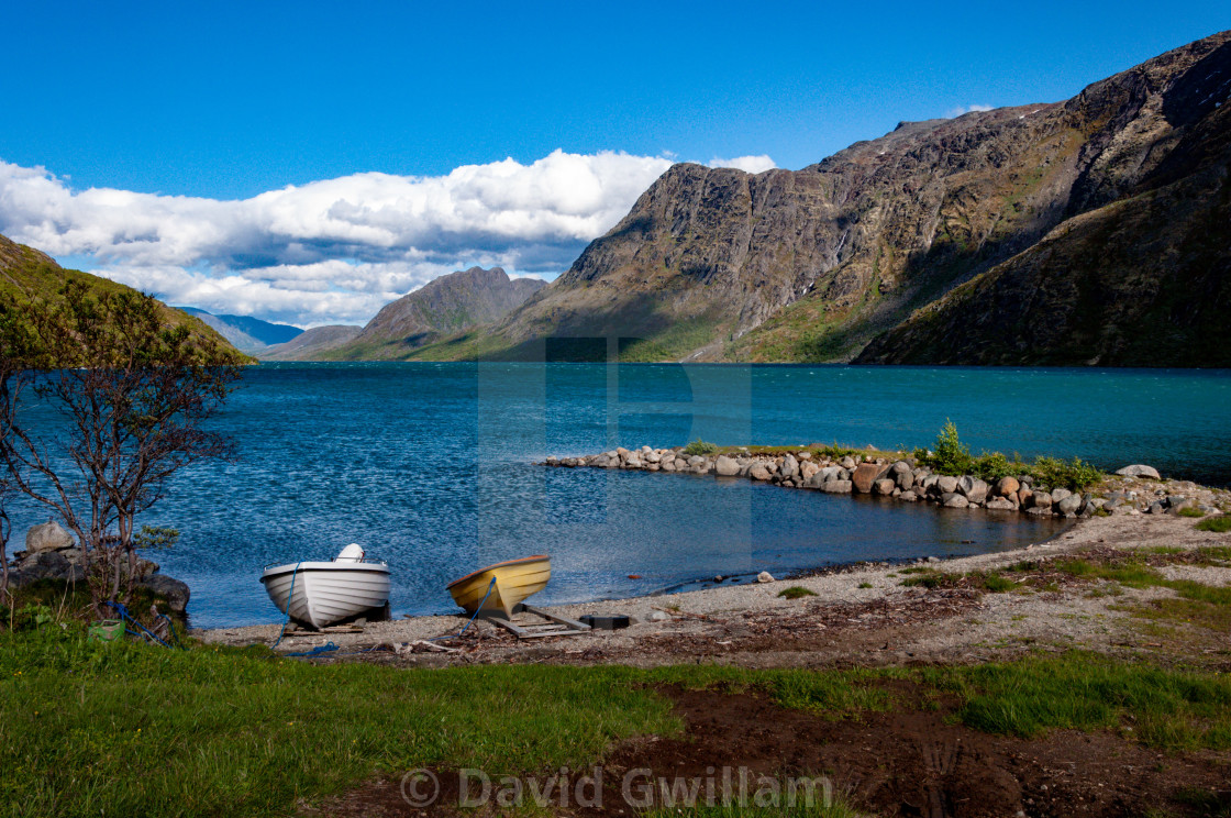 """Norwegian Lake"" stock image"