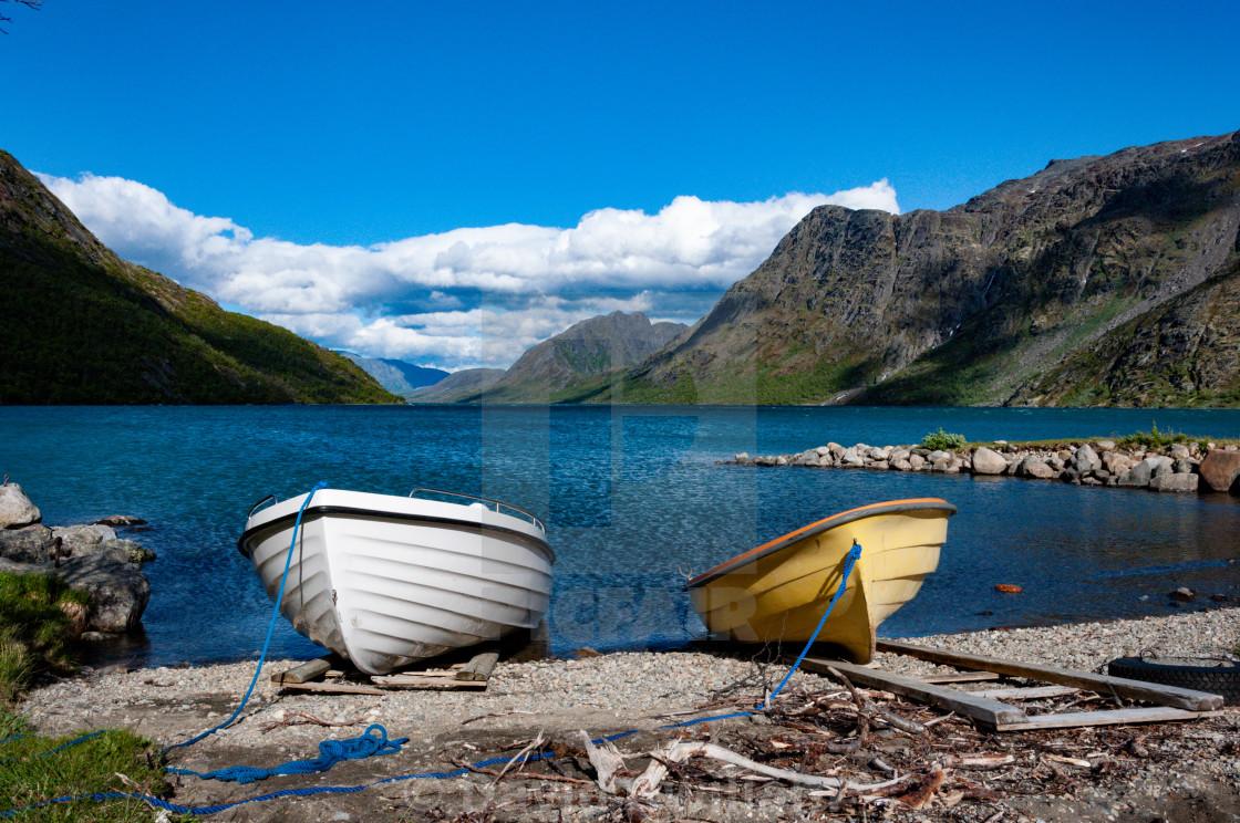 """Norwegian Boats"" stock image"