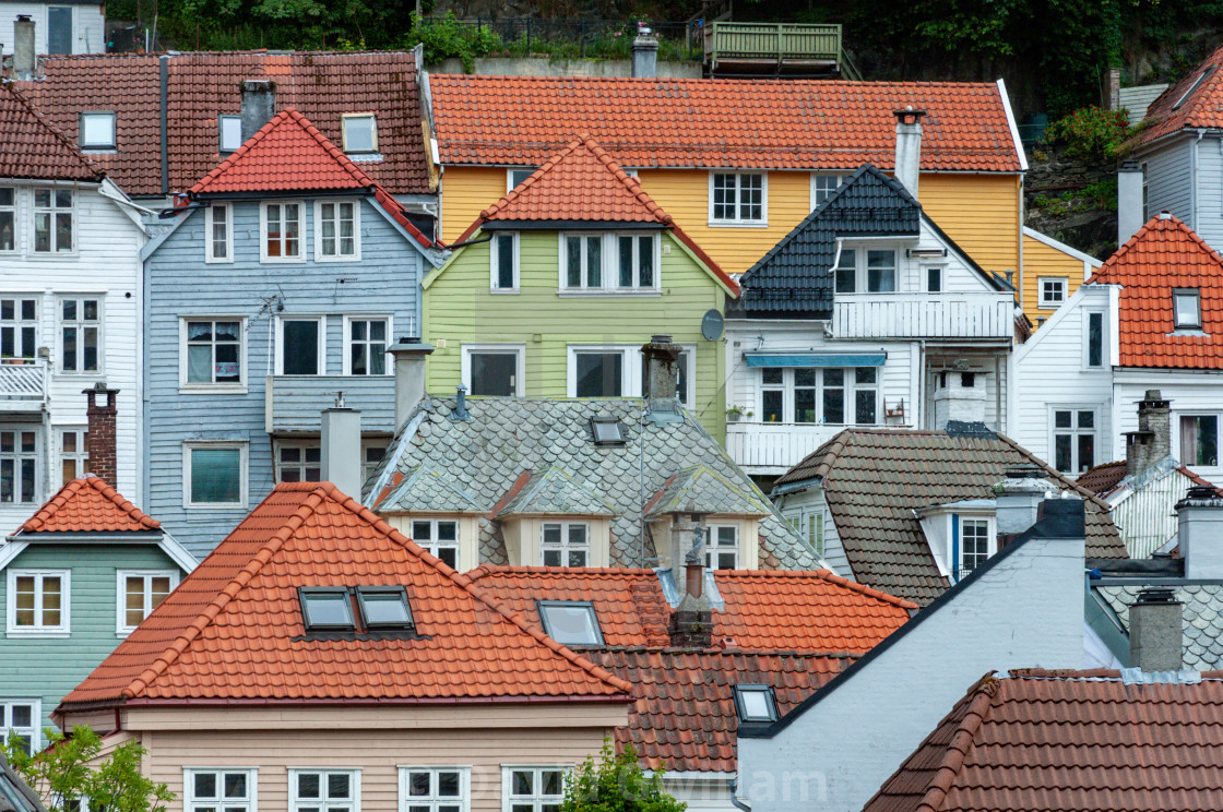 """Bergen Houses"" stock image"