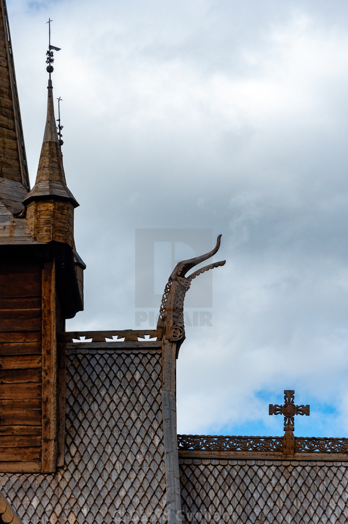 """Viking church 1"" stock image"
