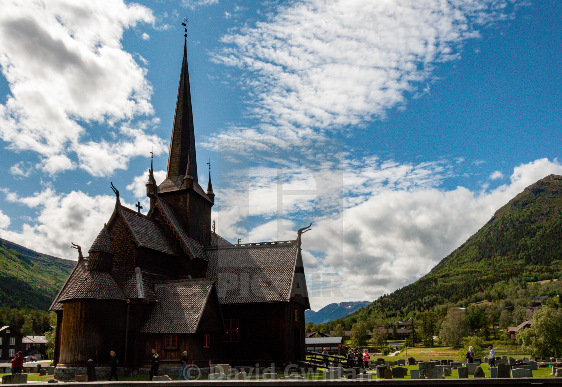 """Lom Stave Church 1"" stock image"