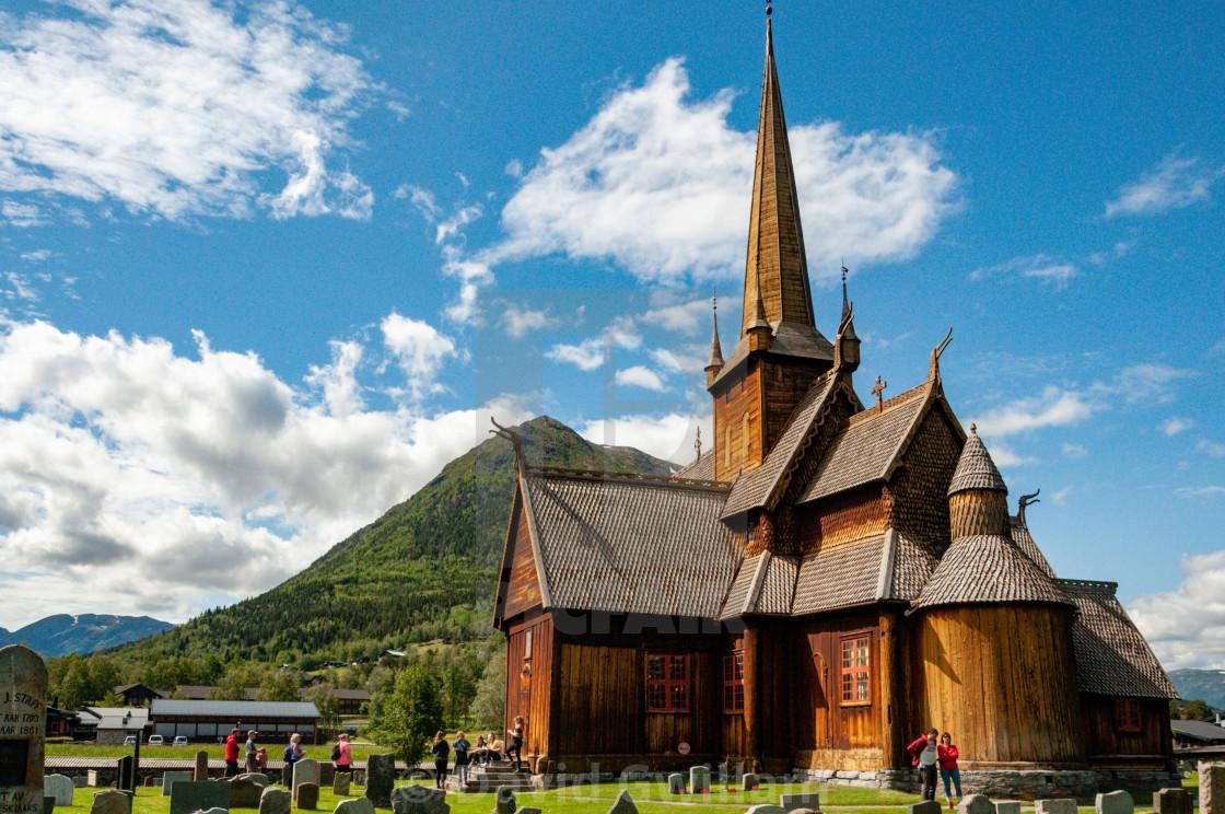 """Lom Stave Church 2"" stock image"