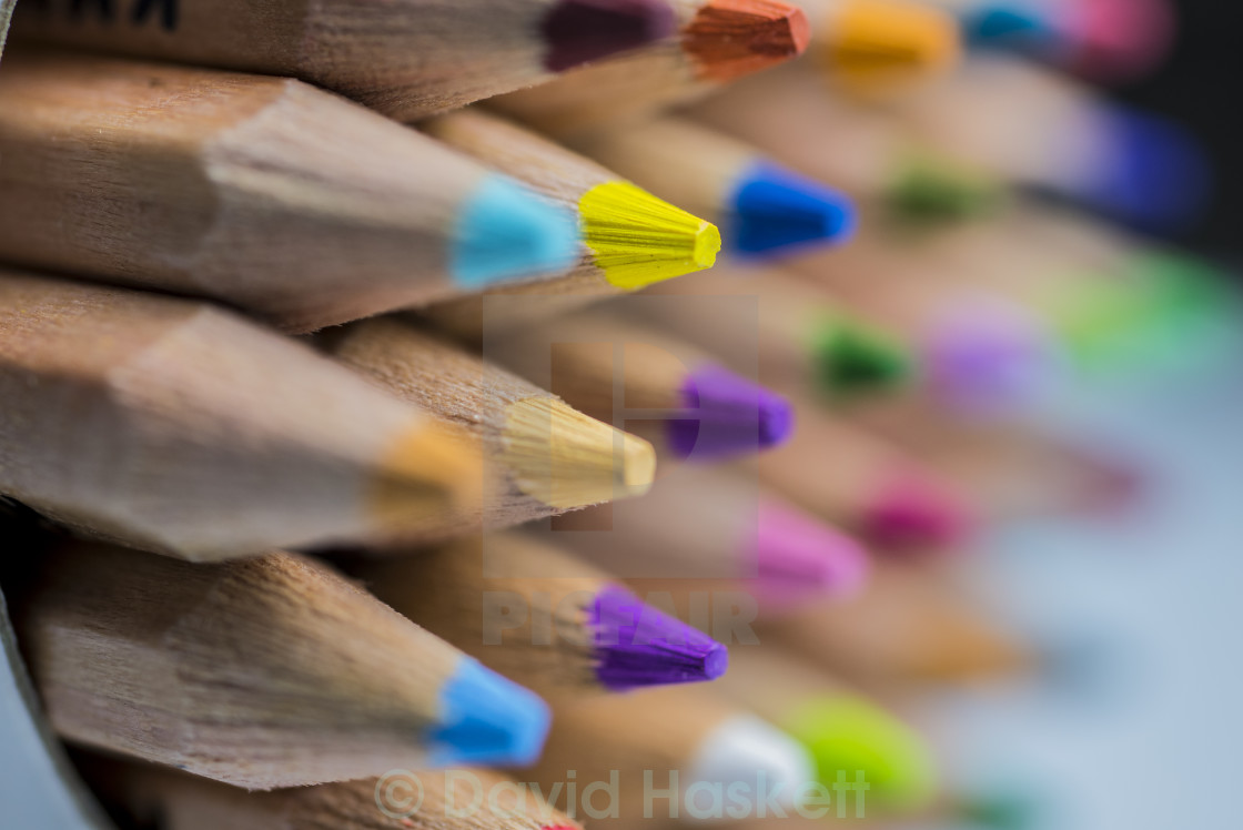 """Colored Pencils Macro"" stock image"