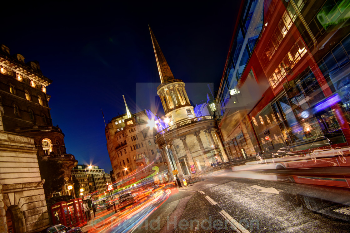 """Langham Place, London"" stock image"