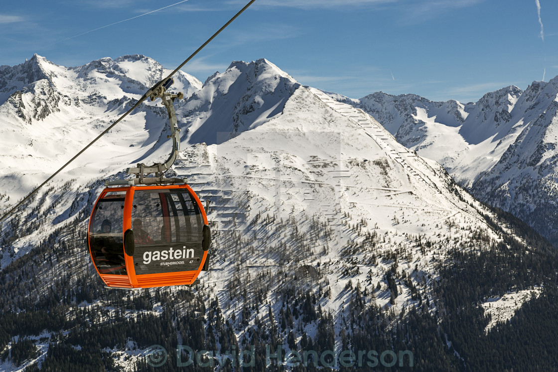 """Cable Car Over Bad Gastein, Austria"" stock image"