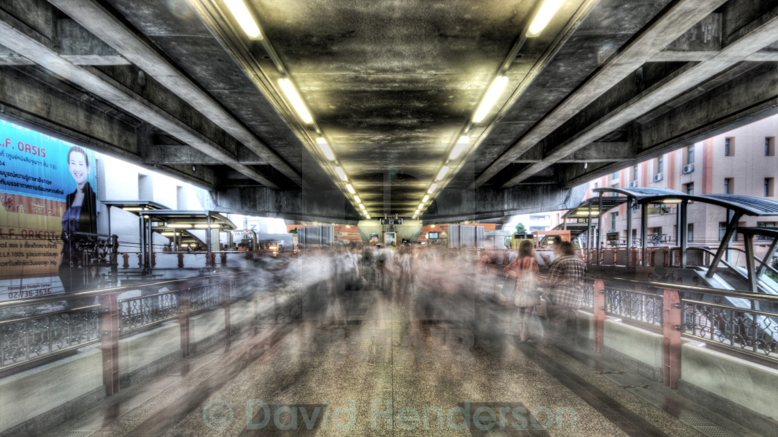 """Commuters in Bangkok"" stock image"