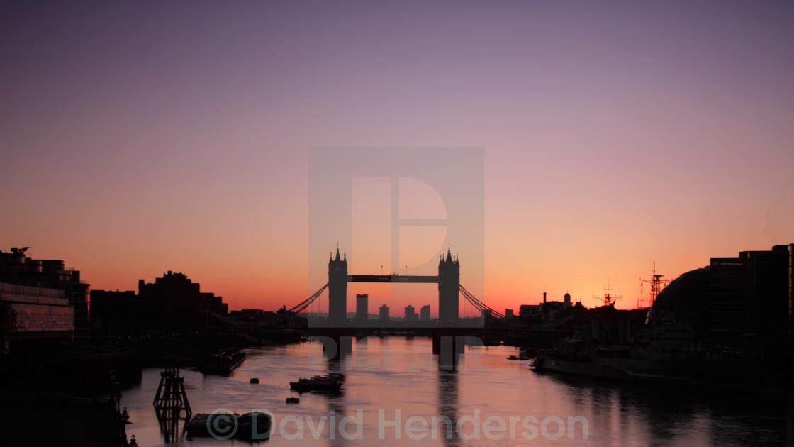 """Sunrise At Tower Bridge, London"" stock image"