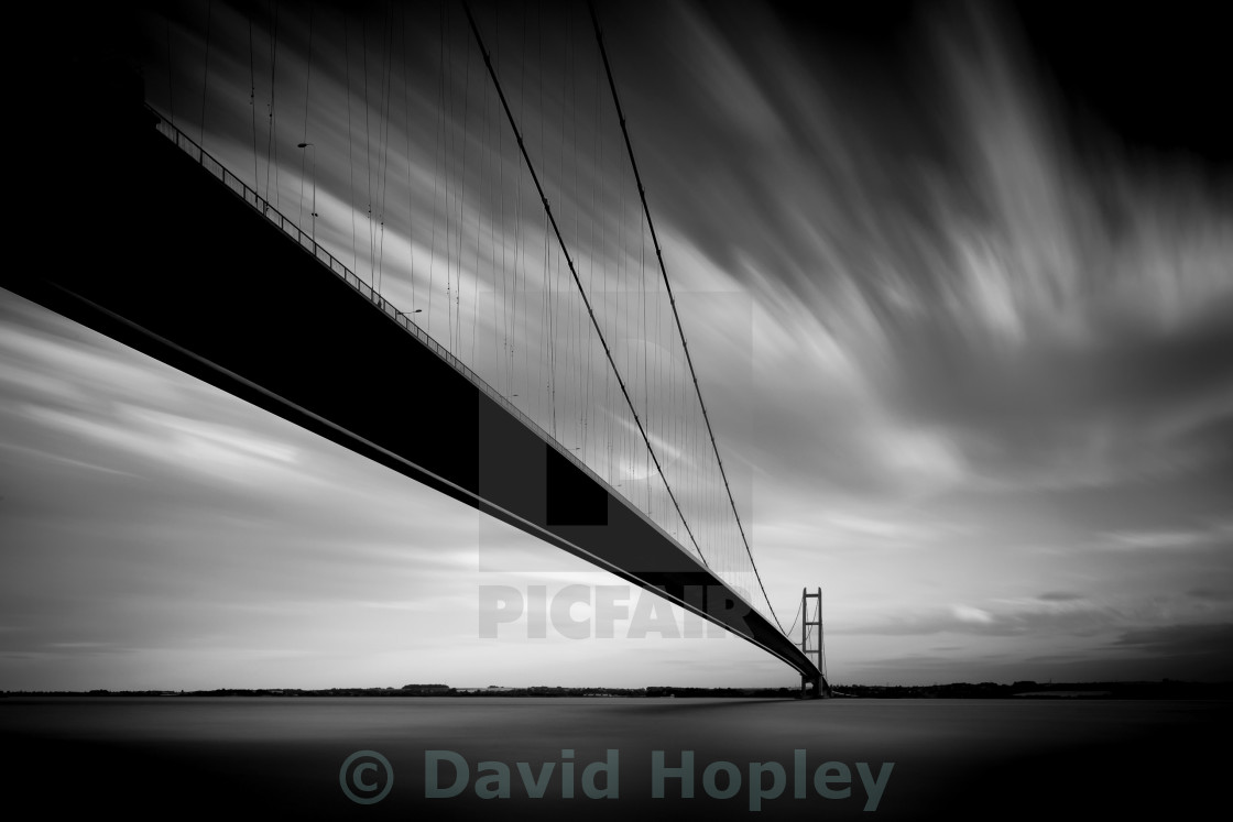 """Humber Bridge Mono"" stock image"