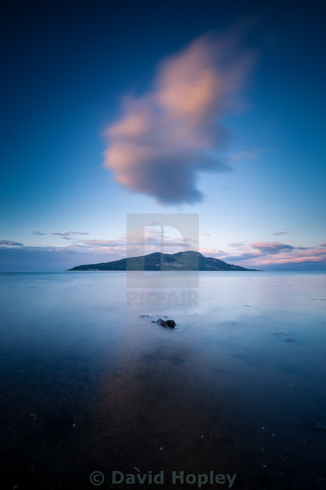 """Trì - Holy Island of the coast of Arran"" stock image"