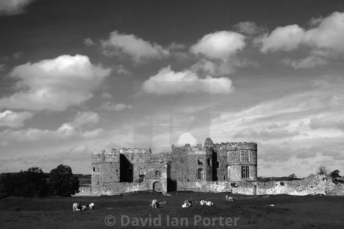 """""""Carew Castle, Carew Village, Pembrokeshire National Park, Wales, UK"""" stock image"""