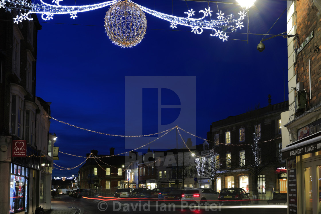England Christmas Lights.Christmas Lights In Spalding Town Centre Lincolnshire